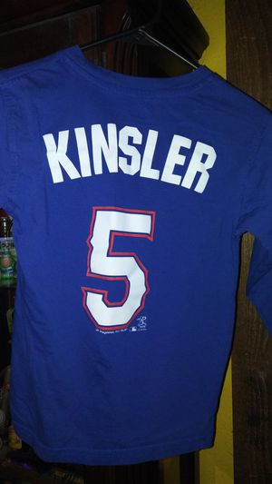 Texas Rangers long sleeve shirt Ian Kinsler kids size 6-7 for Sale in Garland, TX