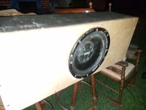 "12"" fusion subwoofer bassbox for Sale in Houston, TX"