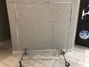 Single Rolling Clothes Rack for Sale in Los Angeles, CA
