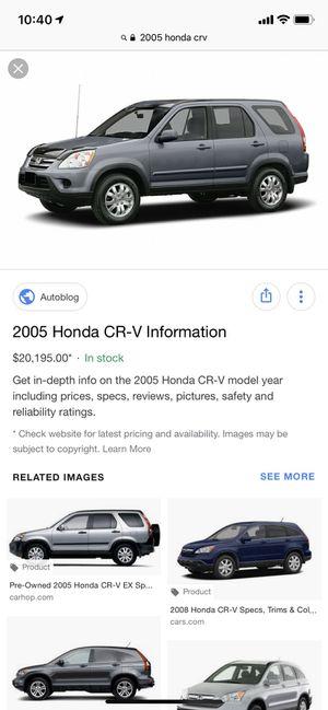 2005 Honda CRV - test only for Sale in Lawton, KS