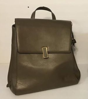 Leather backpack / bag - Olive - Horse / Equestrian themed insides New for Sale in Los Altos, CA