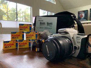 Canon EOS Rebel 2000 35mm Film SLR Camera Kit with 28-80mm Lens/ Kit- used once!!!! for Sale in Los Gatos, CA
