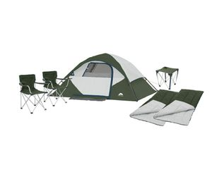 Camping tent - combo. 4 person tent + 2 foldable chairs + 2 sleeping bags + table for Sale in Orlando, FL