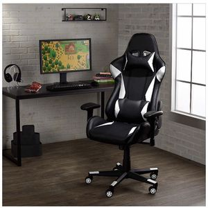 Gaming/Racing Style Office Chair with Removable Headrest and High Back Cushion - White for Sale in Hacienda Heights, CA