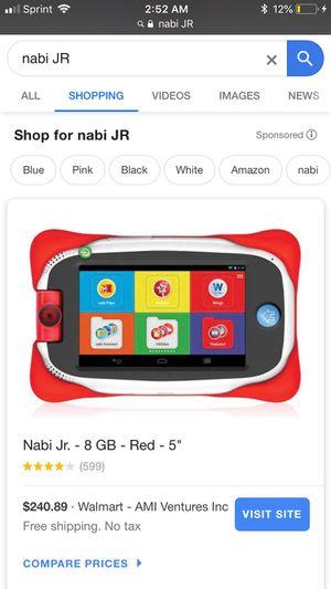 Nabi Jr Kids Tablet for Sale in Saint Joseph, MO
