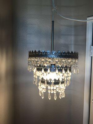 3 tier bling chandelier shade comes with light slag chandelier - $75 (Irvine) for Sale in Irvine, CA