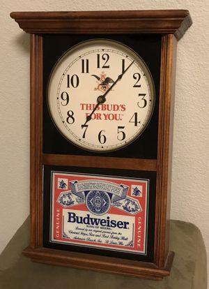 Vintage Budweiser Clock for Sale in Arlington, TX
