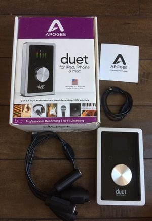 Apogee Duet 2 for iPad and mac for Sale in Covina, CA
