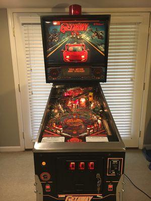 Williams The Getaway: High Speed 2 Pinball Arcade Game for Sale in Saline, MI