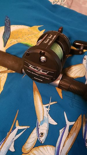 Shimino charter special tr 2000 lever drag on tica rod for Sale in Suffolk, VA