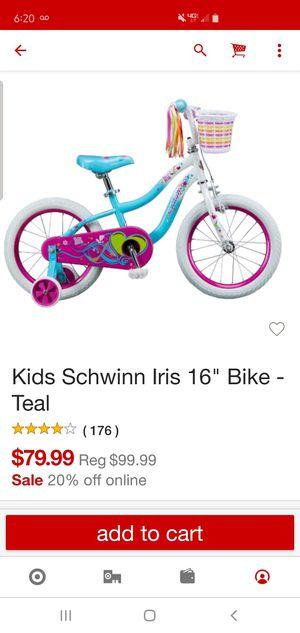 "Girls 16"" bike -new for Sale in Kingsburg, CA"