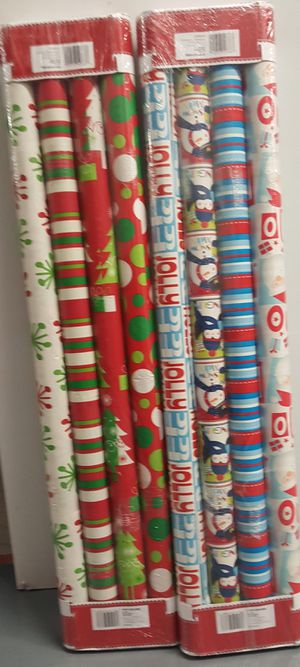Christmas wrapping papers 2 for $15 or 1 for $8 for Sale in Passaic, NJ