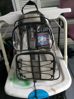 Brand New TRAILMAKER clear Backpack just in time for school for Sale in Orange, TX