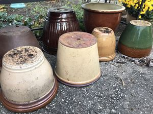 7 heavy duty ceramic planters for Sale in Gambrills, MD