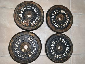 weight plates dumbell bar set for Sale in Kissimmee, FL