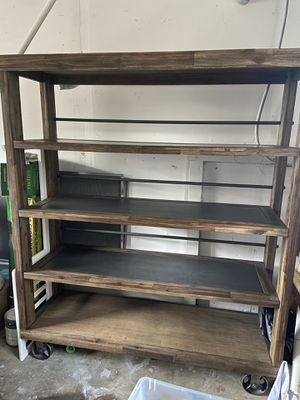 Living spaces industrial shelving unit for Sale in Long Beach, CA