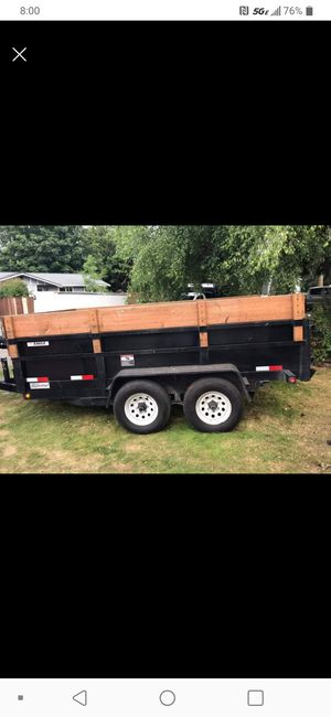 2014 Dump trailer 7x12 for Sale in Marysville, WA