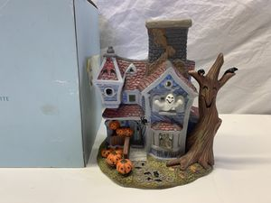 Halloween Decoration Partylite Haunted House Candle Holder for Sale in Fort Lauderdale, FL