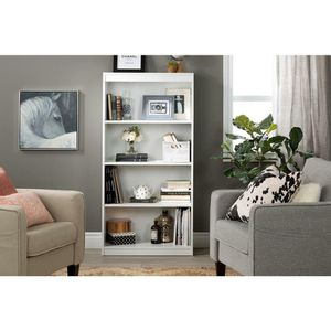 4 Shelf Bookcase In Pure White for Sale in San Francisco, CA