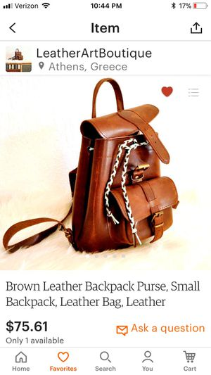 Small leather backpack for Sale in Arlington, VA