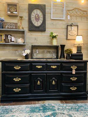 Black farmhouse dresser, buffet, or media console for Sale in Sumner, WA