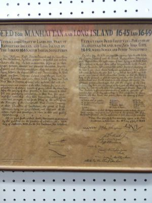 1961 Print of The Deed for Manhattan for Sale in Sunbury, OH