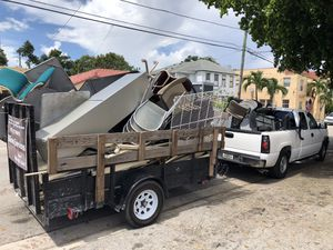 I pick up scrap metal aluminum appliances for free and trash removal for a fee for Sale in Miami, FL