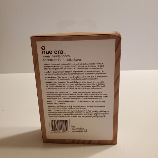 Nue Era Headphones-Polk Audio Tortoise AM4 10903997. New, sealed. UPC 747192124052