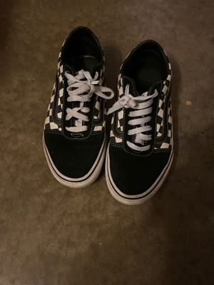 black checkered vans size 8.5 accept trades also for Sale in Kissimmee, FL