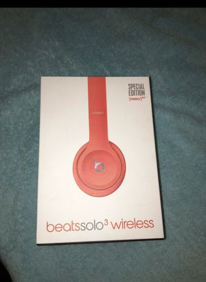 Beats solo 3 wireless product red for Sale in Durham, NC