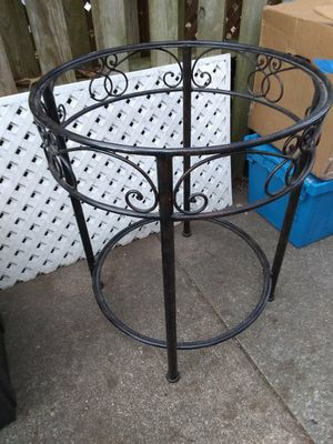 Two-tier Glass and Metal Table from Pier 1 Imports for Sale in Virginia Beach, VA