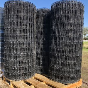 HORSE FENCE GALVANIZED PLUS BLACK PAINT HI TENCEL STRAIGHT 11 GAUGE 2 X 4 SQUARE $260 EACH ROLL for Sale in Rockwall, TX