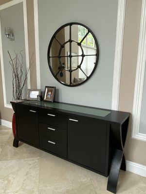 "36"" diameter black wall mirror for Sale in Pembroke Pines, FL"