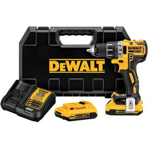 DEWALT 20-VOLT MAX XR LITHIUM-ION CORDLESS 1/2 IN. BRUSHLESS COMPACT DRILL/DRIVER WITH (2) BATTERIES 2AH, CHARGER AND HARD CASE for Sale in Stickney, IL