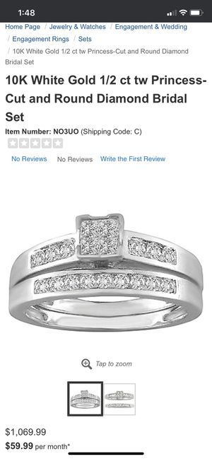 Wedding band engagement ring set for Sale in Aliquippa, PA