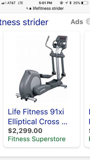 LifeFitness 91xi Elliptical OVER 50% OFF for Sale in Boca Raton, FL