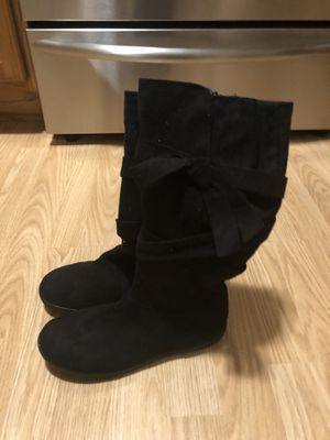 Girl's or Women's New Black Suede Boots Size 4 for Sale in East Lansing, MI