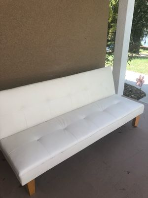 White Leather Reclining Couch for Sale in Clermont, FL