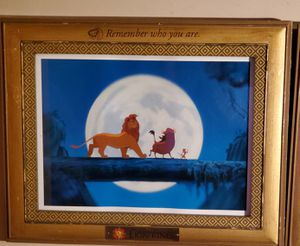 Disney collectors frame, lion king picture for Sale in Vancouver, WA
