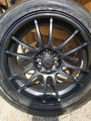 Set of 4 used tires and wheels 5 lugs universal size 18 fit Honda scion Toyota for Sale in Nashville, TN