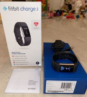 Fitbit Charge 2 Activity Tracker + Heart Rate Monitor w/ Charger for Sale in Santa Monica, CA