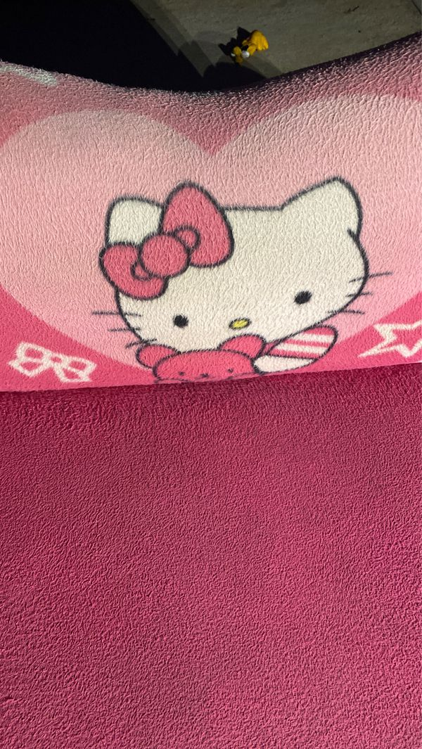 Hello kitty pink couch extender for kids room