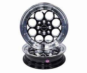 2x Drag Racing Wheels Rims 15X3.5 4X100/114.3 10 ET 73.1 CB Black Milling Polished Lip Chrome Rivets for Sale in Port St. Lucie, FL