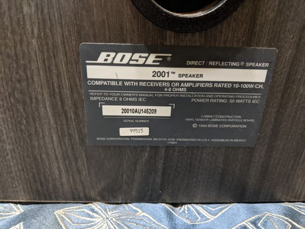"Bose ""2001 Speakers"" pair"