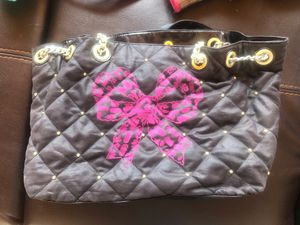 Betsy Johnson hobo bag with classic rose lining for Sale in Vail, CO