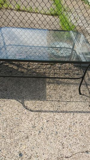 Glass Table Patio Coffee Table for Sale in Philadelphia, PA