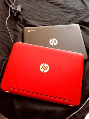 2 HP Laptops (notebook) Red & Black for Sale in Los Angeles, CA