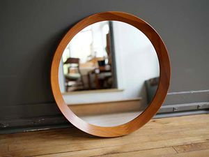 Pedersen & Hansen Round Teak Scaved Mirror for Sale in Peoria, AZ