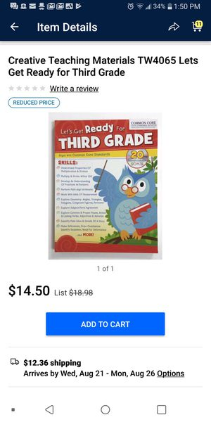 Lets Get Ready for Third Grade Book for Sale in Columbus, OH