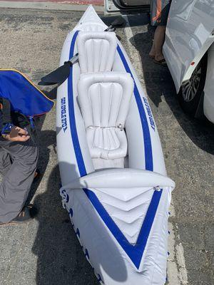 Inflatable Kayak with 2 paddles 2 life jacket for Sale in Santa Cruz, CA